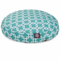 MajesticPet 788995508939 36 in. Links Round Pet Bed, Teal - Medium