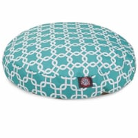 MajesticPet 788995510932 42 in. Links Round Pet Bed, Teal - Large