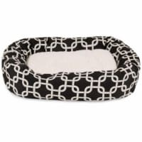 MajesticPet 788995542315 32 in. Links Sherpa Donut Pet Bed, Black - 1