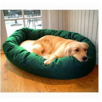 Majestic Pet 788995612438 40 in. Large Bagel Bed- Green and Sherpa