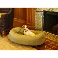 Majestic Pet 78899567506 52 in. Bagel Dog Pet Bed Suede Sage - 1
