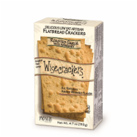 Wisecrackers Roasted Garlic & Rosemary Artisan Flatbread Crackers - 4.7 oz