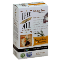 Free For All Kitchen Roasted Garlic & Rosemary Crackers