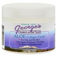 George's Aloe Vera Collagen Cream - 2 oz - Case of 1 - 2 OZ each