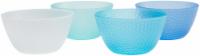 TarHong Cool Hammered Cereal Bowl Set - 4 pk - Blue/White