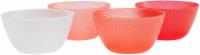 TarHong Warm Hammered Cereal Bowl Set - 4 pk - Red/White