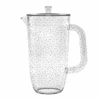 Tarhong PDWPI100PLCL 100 oz Bubble Pitcher - Clear