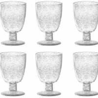 TarHong PFZGB140FGBU 14 oz Fizz Clear Goblet - Premium Plastic - Set of 6