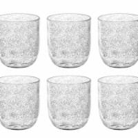 TarHong PFZDF180FSCB 16.23 oz Fizz Clear Stemless Glass - Premium Plastic - Set of 6