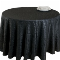 Saro Lifestyle 8215.BK90R 90 in. Plaza Round Crushed Tablecloth Liner - Black