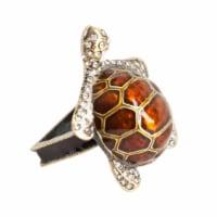 SARO NR537.BZ Turtle Napkin Ring  Bronze - Set of 4