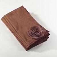 SARO 1951.CO20S 20 in. Square Rose Design Napkin - Copper  Set of 4 - 1