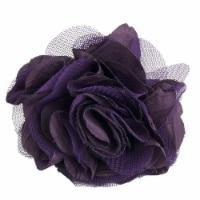 Saro Lifestyle NR093.EG Flower Design Napkin Ring, Eggplant - Set of 4 - 1