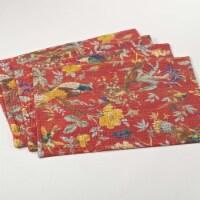 Saro Lifestyle 5160.R1319B 13 x 19 in. Ketan Rectangular Printed Placemat with Kantha Stitche