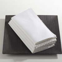 SARO 1442.R20S 20 in. Square Whip Stitched Napkin - Red  Set of 4 - 1
