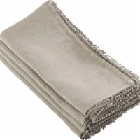 Saro Lifestyle 15062.N1672B 16 x 72 in. Rectangle Pompom Design Table Runner, Natural