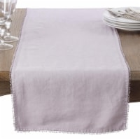 Saro Lifestyle 15062.LV1420B 14 x 20 in. Rectangle Pompom Design Placemat, Lavender-Set of 4