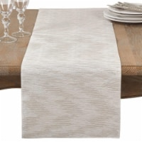 SARO 1410.S1420B 14 x 20 in. Rectangle Metallic Woven Placemat  Silver - Set of 4