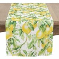 SARO 1528.M1672B 16 x 72 in. Persil Rectangle Printed Lemon Table Runner - Multi Color - 1