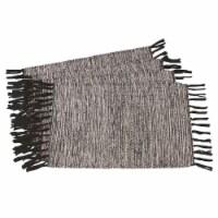 Saro Lifestyle 2432.BK1420B Rustic Woven Cotton Placemats, Black - Set of 4