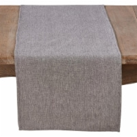 SARO 4866.GY1672B 16 x 72 in. Rectangle Cotton Table Runner in Solid Grey - Gray