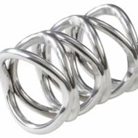 Saro Lifestyle NR710.S Gia Dinner Napkin Ring, Silver - Set of 4 - 1