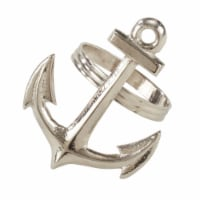 SARO NR973.S Anchor Design Napkin Ring  Silver - Set of 4