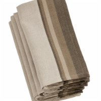Saro Lifestyle 20 in. Square Cotton Table Napkins with Block Print - Natural, Set of 4 - 1
