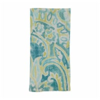 Saro Lifestyle 20 in. Square Linen Table Napkins with Distressed Paisley Design - Set of 4 - 1