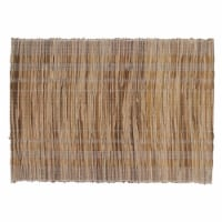 Saro Lifestyle 1702.W1420B 14 x 20 in. Oblong Water Hyacinth Placemats with Striped Design