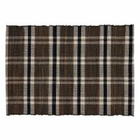 SARO 805.N1420B 14 x 20 in. Oblong Water Hyacinth Placemats with Plaid Woven Design - Set of - 1