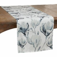 Saro Lifestyle 4667.BG1672B 16 x 72 in. Oblong Watercolor Floral Design Table Runner