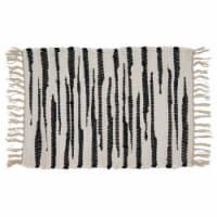 Saro Lifestyle 3333.BW1420B 14 x 20 in. Oblong Cotton Placemats with Black & White Zebra