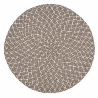 Saro Lifestyle 2807.N15R 15 in. Round Placemats with Natural Woven Design - Set of 4