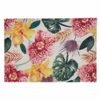 SARO 8719.M1319B 13 x 19 in. Oblong Floral Placemats with Lanai Design - Set of 4