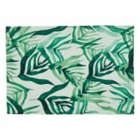 Saro Lifestyle 8819.G1319B 13 x 19 in. Oblong Rainforest Design Table Mats, Green - Set of 4