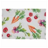 SARO 8919.M1319B 13 x 19 in. Oblong Veggies Design Table Mats - Set of 4