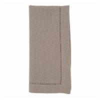 Saro Lifestyle 6308.T20S 20 in. Square Classic Hemstitch Border Dinner Napkin, Tan -Set of 12