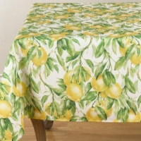 SARO 1528.M65104B 65 x 104 in. Oblong Printed Tablecloth with Lemon Design