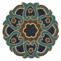 Saro Lifestyle 5817.M14R Round Placemats with Beaded Design - Set of 4