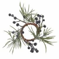 Saro Lifestyle NR414.G Holiday Napkin Rings with Pine & Berry Design - Set of 4 - 1