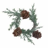 Saro Lifestyle NR371.G Holiday Napkin Rings with Pine Cone Design - Set of 4 - 1