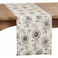 SARO 581.I1472B Dining Table Runner with Sunflower Design