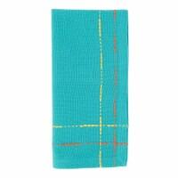 Saro 2625.TQ18S 18 in. Dobby Border Square Table Napkins, Turquoise - Set of 4