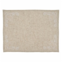 SARO 9002.N1420B Embroidered Design Placemats - Set of 4