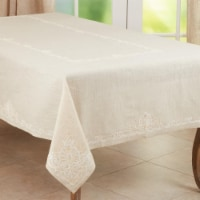 SARO 9002.N67180B Elegant Tablecloth with Embroidered Design - 1