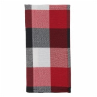 Saro Lifestyle 6355.R20S 20 in. Square Red Plaid Pattern Table Napkins, Set of 4