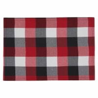 Saro Lifestyle 6355.R1319B 13 x 19 in. Oblong Red Plaid Pattern Placemats, Set of 4