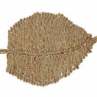 SARO 1909.N1420B 14 x 20 in. Sea Grass Leaf Placemats  Oblong - Set of 4 - 1