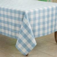 Saro 5026.BL70S 70 in. Cotton Blend Buffalo Plaid Square Tablecloth, Black - 1